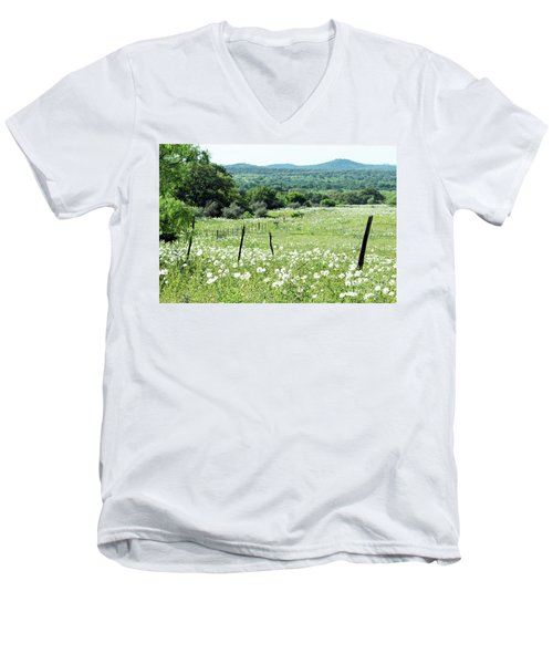 Men's V-Neck T-Shirt featuring the photograph Done In White by Joe Jake Pratt