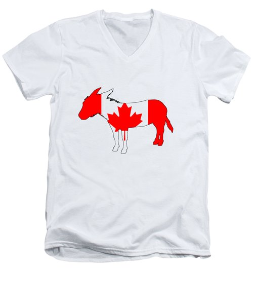 Donkey Canada Men's V-Neck T-Shirt by Mordax Furittus
