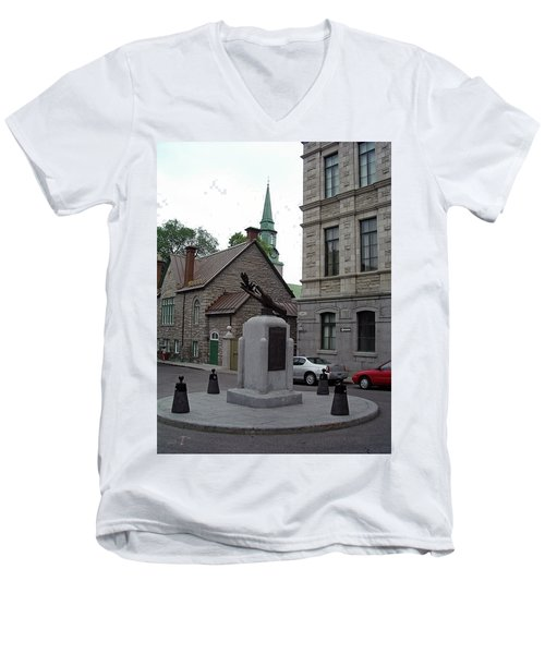 Men's V-Neck T-Shirt featuring the photograph Donnacona And Du Parloir by John Schneider
