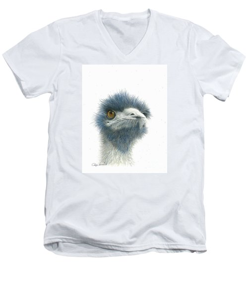 Dont Mess With Emu Men's V-Neck T-Shirt by Phyllis Howard