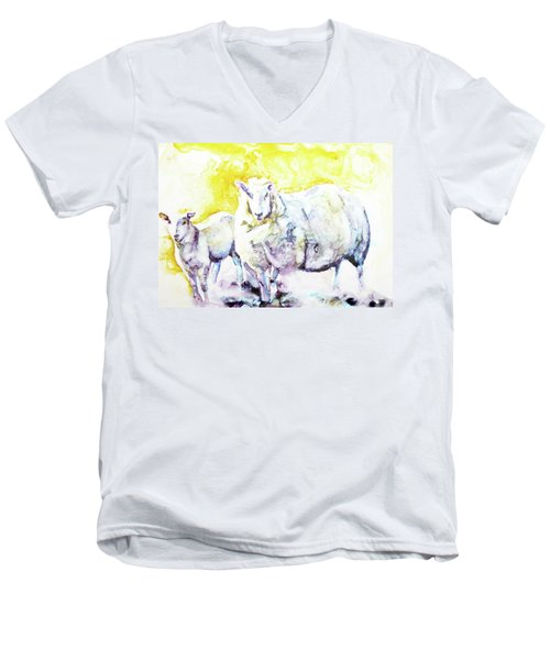 Don't Mess With My Lamb Men's V-Neck T-Shirt