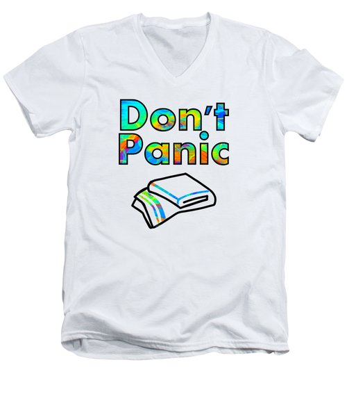 Don't Panic Men's V-Neck T-Shirt