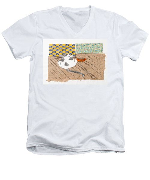 Don't Touch Me Or I Will Eat You Too Men's V-Neck T-Shirt