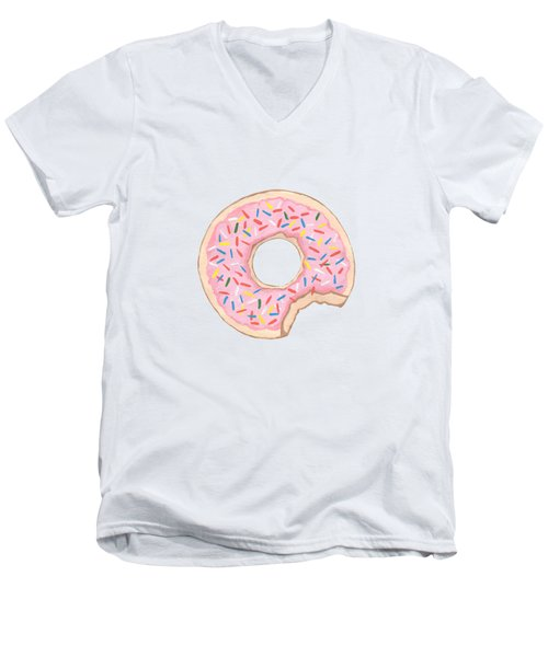 Donut Men's V-Neck T-Shirt by Kathleen Sartoris