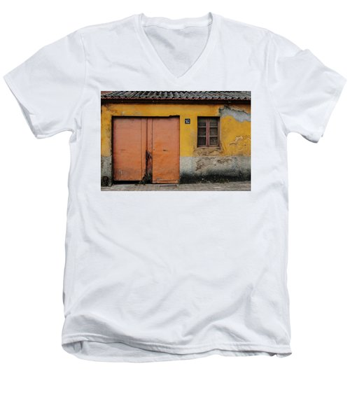 Men's V-Neck T-Shirt featuring the photograph Door No 162 by Marco Oliveira