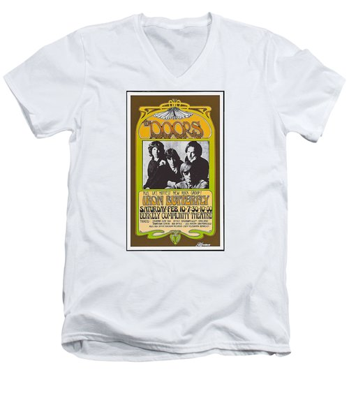 Doors/iron Butterfly Concert Poster Men's V-Neck T-Shirt