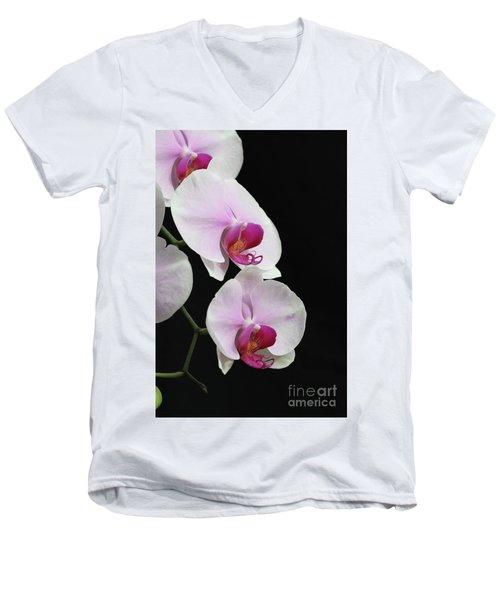 Doritaenopsis Mount Lip Fangtastic Orchid Men's V-Neck T-Shirt