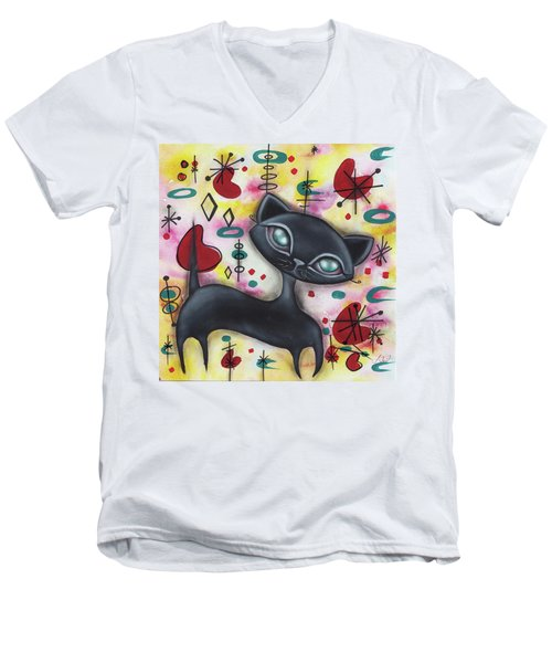 Dorothy Cat Men's V-Neck T-Shirt by Abril Andrade Griffith