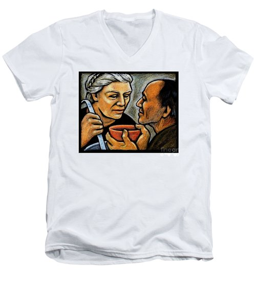Dorothy Day Feeding The Hungry - Jlddf Men's V-Neck T-Shirt
