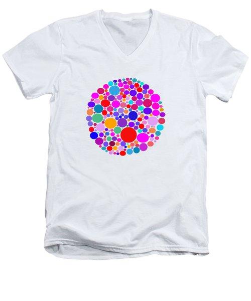 Dots 03 Men's V-Neck T-Shirt