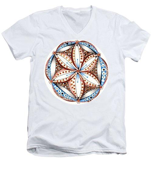 Dotted Zendala Men's V-Neck T-Shirt