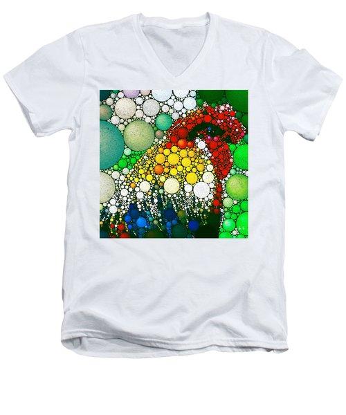 Dotty Doodle Doo Men's V-Neck T-Shirt