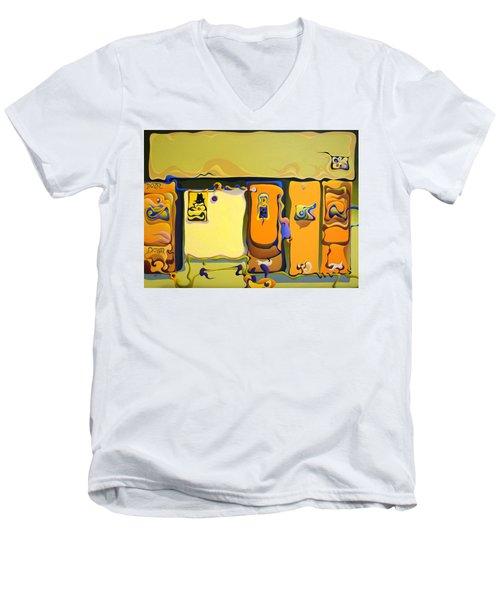 Double Door Power Play Men's V-Neck T-Shirt