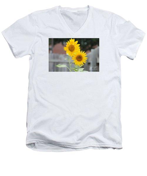 Double Sunflowers Men's V-Neck T-Shirt