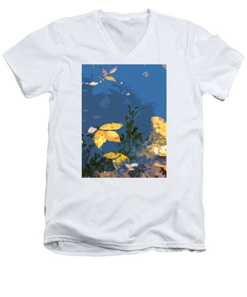 Men's V-Neck T-Shirt featuring the photograph Double Trinity by Spyder Webb