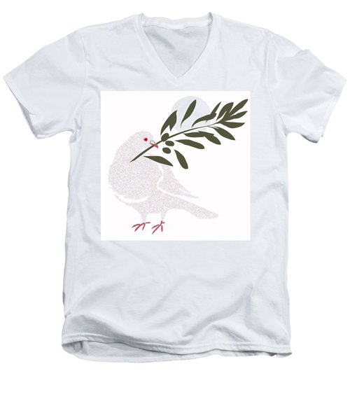 Dove Of Peace Men's V-Neck T-Shirt