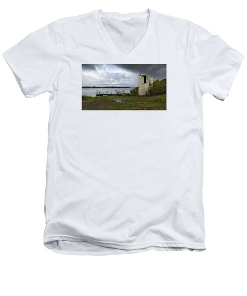 Men's V-Neck T-Shirt featuring the photograph Down By The River 01 by Kevin Chippindall