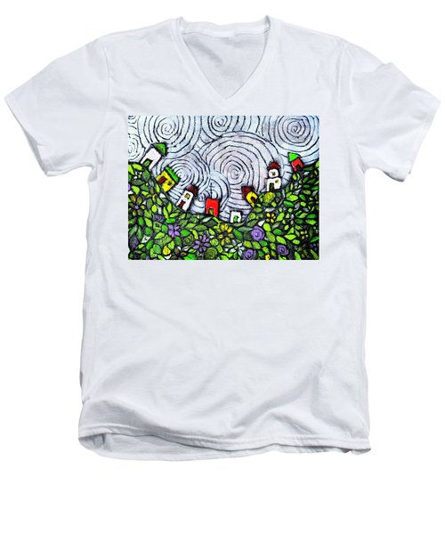 Down In The Valley Men's V-Neck T-Shirt