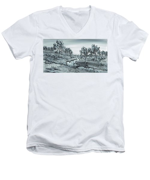 Down Stream Men's V-Neck T-Shirt