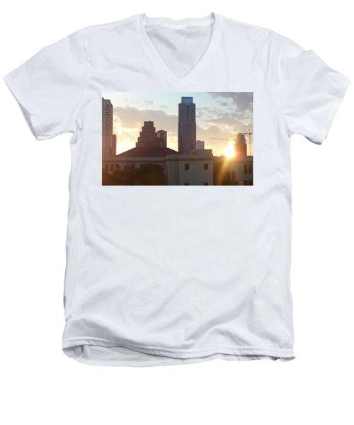 Downtown Austin Men's V-Neck T-Shirt