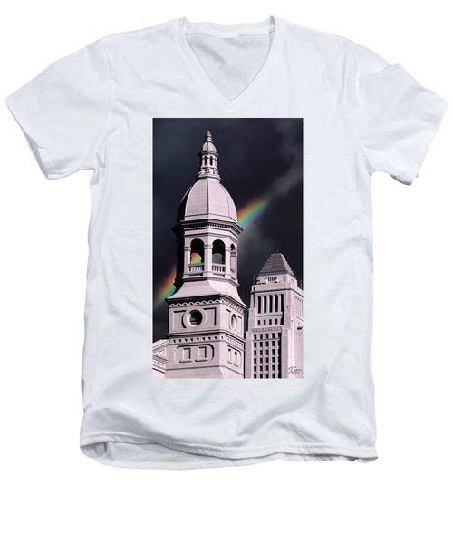 Downtown Buildings Men's V-Neck T-Shirt