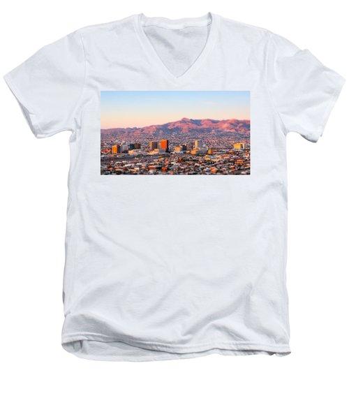Downtown El Paso Sunrise Men's V-Neck T-Shirt