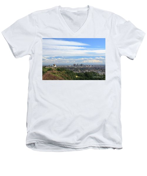 Downtown Los Angeles Men's V-Neck T-Shirt