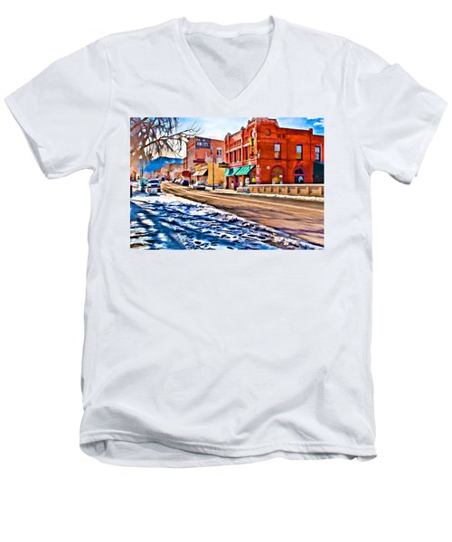 Downtown Salida Hotels Men's V-Neck T-Shirt
