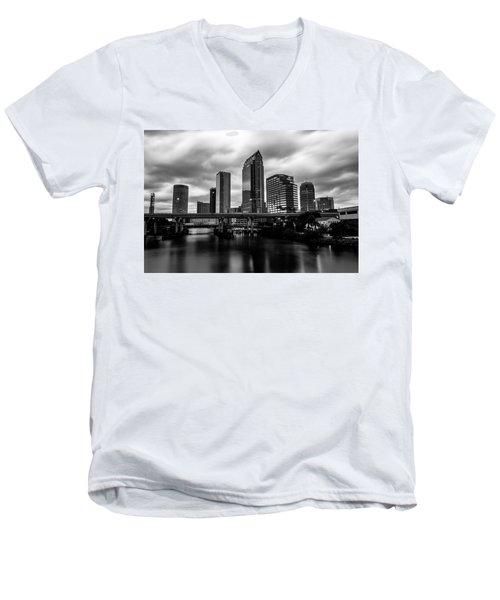 Downtown Tampa Men's V-Neck T-Shirt