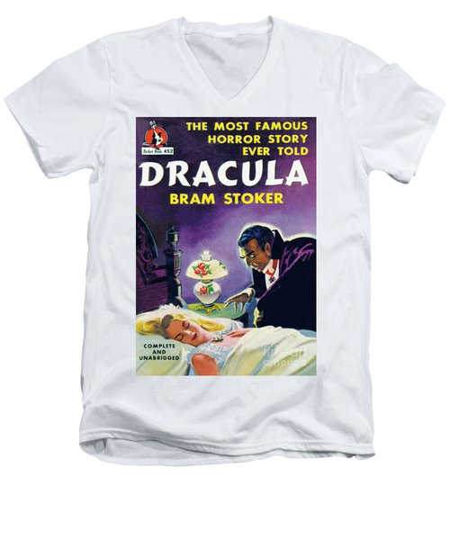 Dracula Men's V-Neck T-Shirt by Unknown Artist
