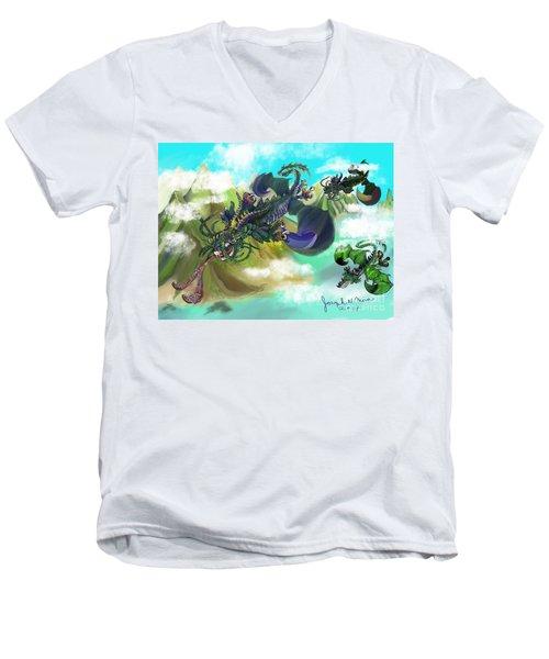 Dragging Around Men's V-Neck T-Shirt