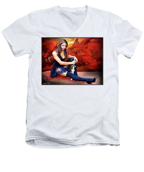 Dragon Dawn Men's V-Neck T-Shirt