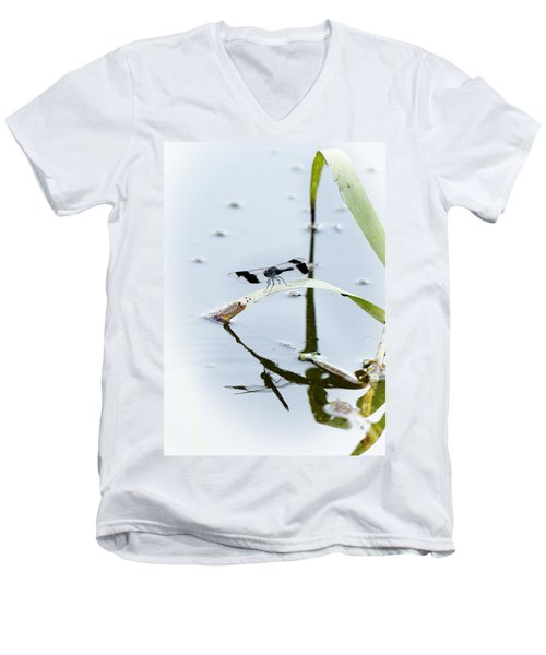 Dragon Fly Men's V-Neck T-Shirt by Patrick Kain