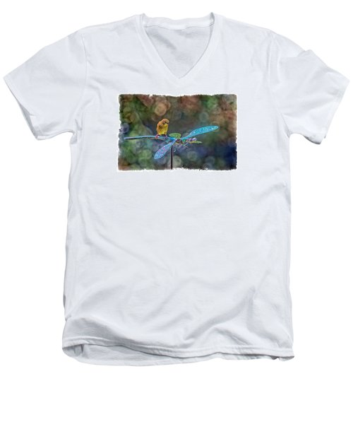 Dragon Rider Men's V-Neck T-Shirt by Constantine Gregory