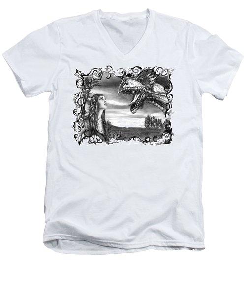Dragon Whisperer  Men's V-Neck T-Shirt