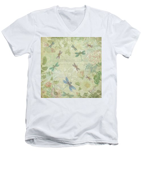 Dragonfly Dream Men's V-Neck T-Shirt by Peggy Collins