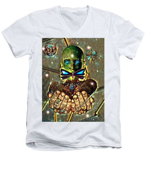 Dragonfly Empath Men's V-Neck T-Shirt