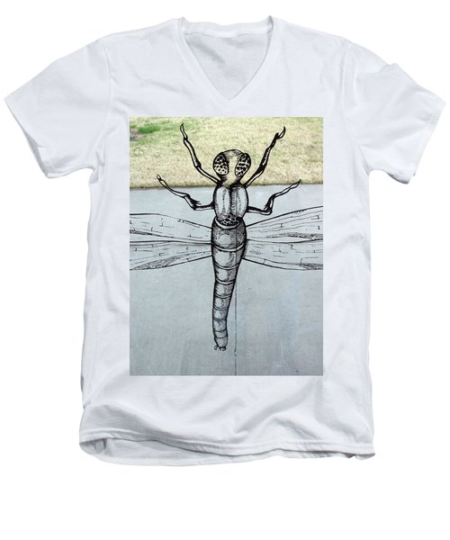 Dragons Fly Men's V-Neck T-Shirt