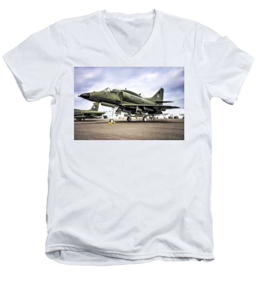 Douglas A-4m Skyhawk II Men's V-Neck T-Shirt