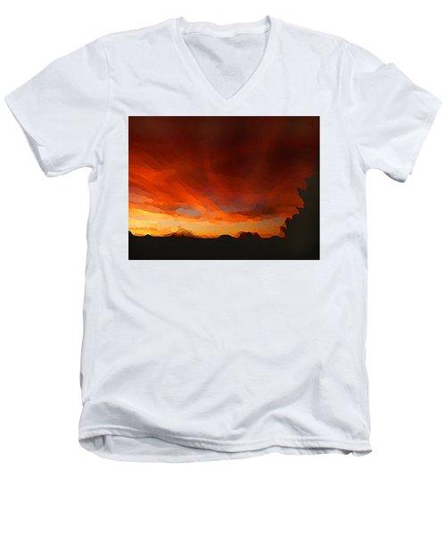 Drama At Sunrise Men's V-Neck T-Shirt