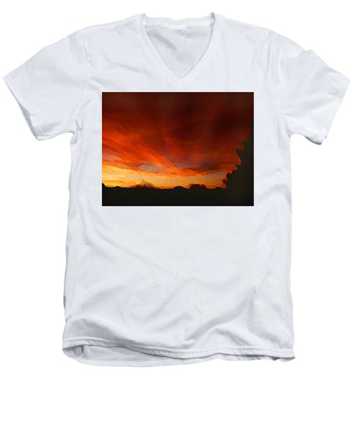Drama At Sunrise Men's V-Neck T-Shirt