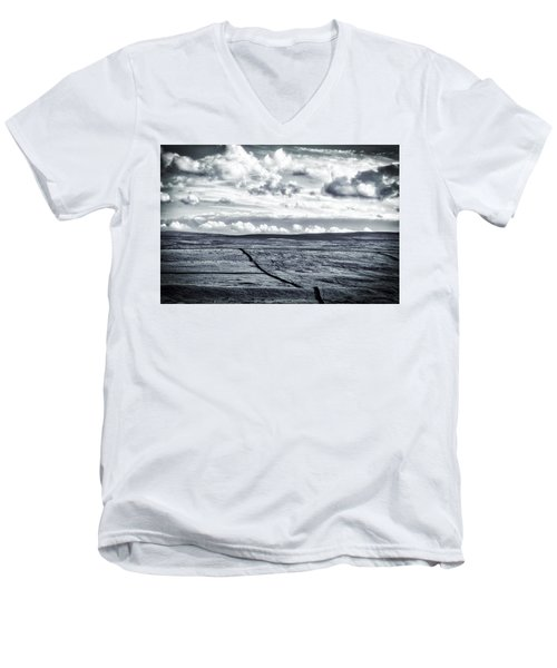 Men's V-Neck T-Shirt featuring the photograph Dramatic Landscape  by RKAB Works