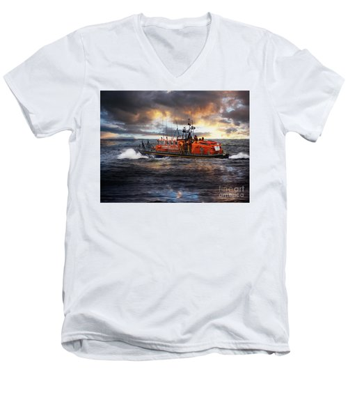 Dramatic Once More Unto The Breach  Men's V-Neck T-Shirt