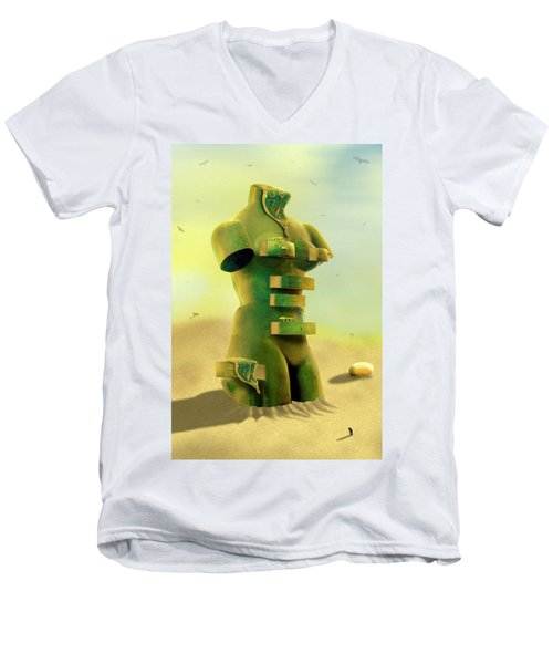 Drawers 2 Men's V-Neck T-Shirt by Mike McGlothlen