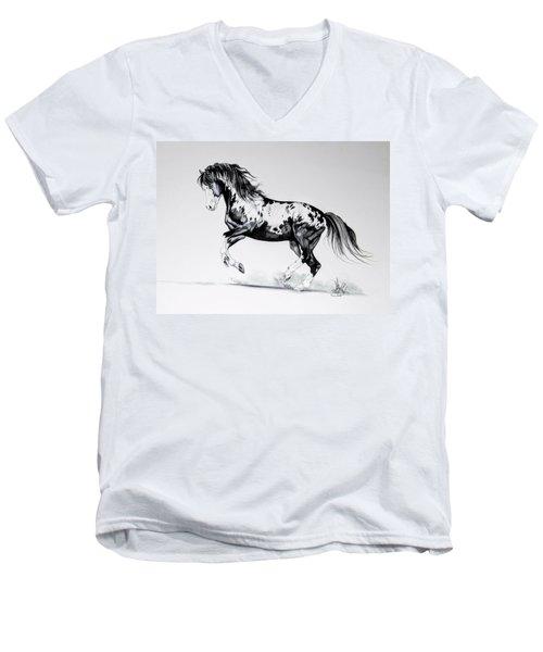 Dream Horse Series - Painted Dust Men's V-Neck T-Shirt by Cheryl Poland