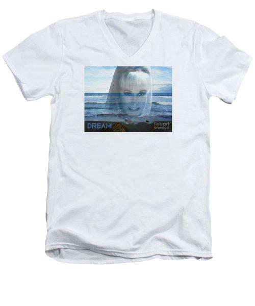 Dream Men's V-Neck T-Shirt by Megan Dirsa-DuBois