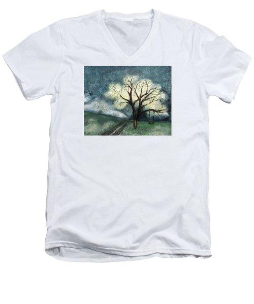 Dream Tree Men's V-Neck T-Shirt by Annette Berglund