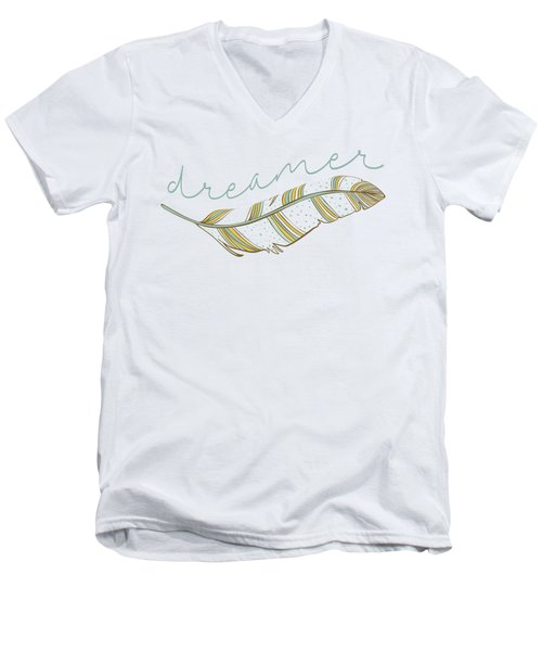 Dreamer Men's V-Neck T-Shirt by Heather Applegate