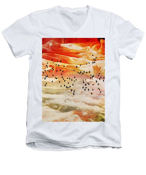Dreaming Between The Sheets Men's V-Neck T-Shirt by Ann Tracy