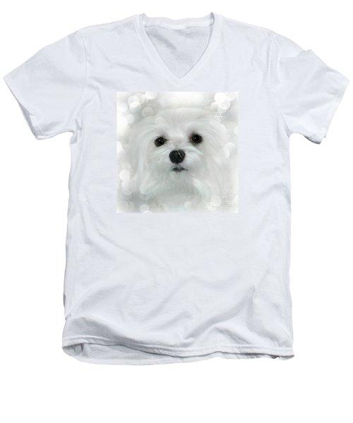 Dreams In White Men's V-Neck T-Shirt by Morag Bates